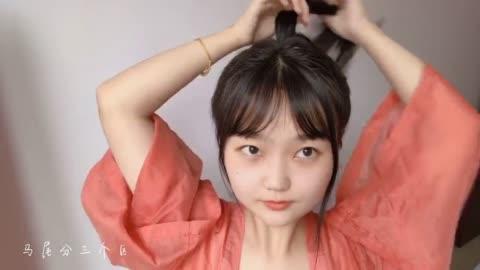 【发型教程】拒绝油腻,夏日清凉可爱发型让你继续美美美~