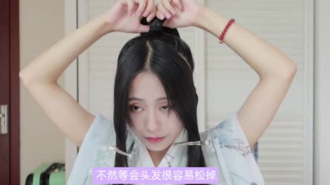 【发型教程】帅气武侠风的魏晋发型,男女都适用!