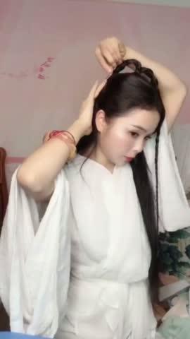 【汉服发型】你心目中最美的小龙女是谁?小龙女古风发型教程